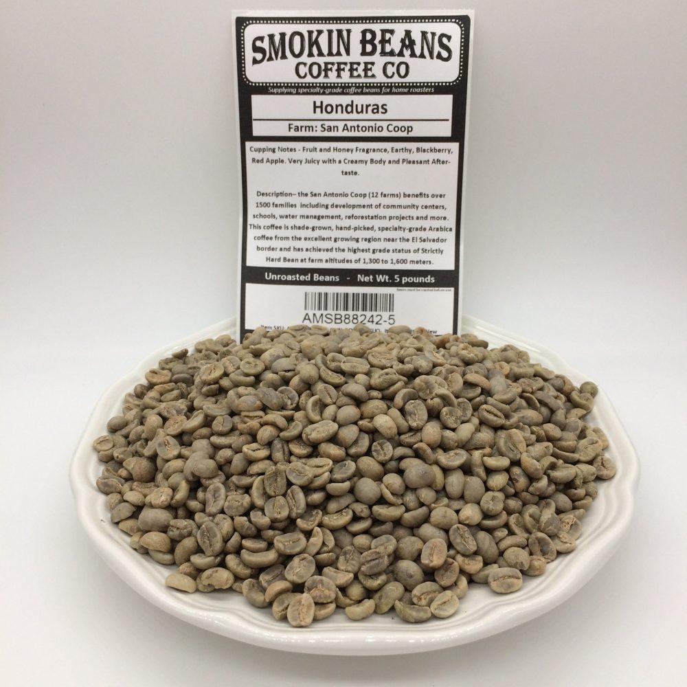5 Pound Honduras Unroasted Subscription Smokin Beans